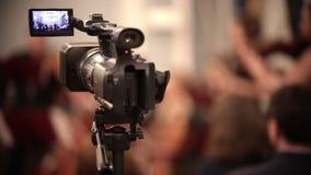 Ορχήστρα αιθουσών Μια κάμερα που καταγράφει την απόδοση απόθεμα βίντεο