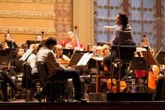 Συμφωνική ορχήστρα στοκ φωτογραφία