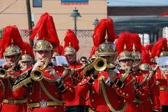 Ορχήστρα πνευστ0ών από χαλκό σε Santa Semana, Μάλαγα Στοκ Φωτογραφίες