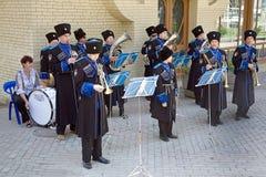 Ορχήστρα πνευστ0ών από χαλκό Στοκ Εικόνες