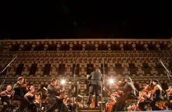 Ορχήστρα σε Plaza Alta, Ισπανία Στοκ Εικόνες