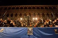 Ορχήστρα σε Plaza Alta, Ισπανία Στοκ φωτογραφία με δικαίωμα ελεύθερης χρήσης