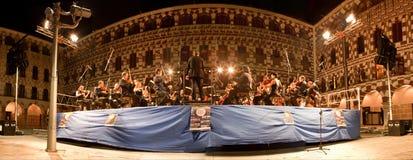 Ορχήστρα σε Plaza Alta, Ισπανία Στοκ εικόνες με δικαίωμα ελεύθερης χρήσης