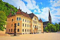 Ορόσημα Λιχτενστάιν Vaduz Στοκ Εικόνες