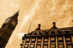 ορόσημα Λονδίνο νοσταλγ& στοκ φωτογραφίες