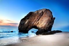 Ορόσημα Πορτογαλία Μια άποψη Praia do Guincho, περιοχή του Αλγκάρβε, της Πορτογαλίας Στοκ Εικόνες