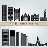 Ορόσημα Ρίο ντε Τζανέιρο V2 διανυσματική απεικόνιση