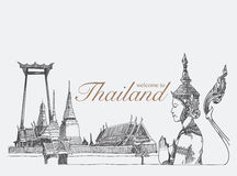 Ορόσημα στην Ταϊλάνδη, διανυσματική απεικόνιση