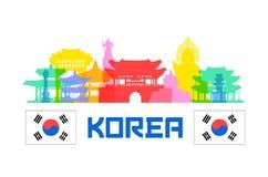 Ορόσημα ταξιδιού της Κορέας απεικόνιση αποθεμάτων