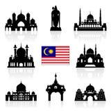 Ορόσημα ταξιδιού της Μαλαισίας Στοκ Εικόνα