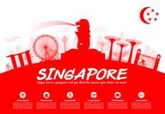 Ορόσημα ταξιδιού της Σιγκαπούρης Στοκ εικόνα με δικαίωμα ελεύθερης χρήσης