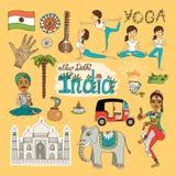 Ορόσημα της Ινδίας διανυσματική απεικόνιση