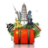 Ορόσημα της Κίνας, Κίνα διανυσματική απεικόνιση