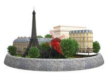 Ορόσημα του Παρισιού Απεικόνιση αποθεμάτων