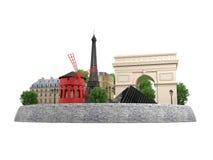 Ορόσημα του Παρισιού Διανυσματική απεικόνιση