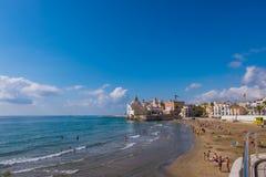 Ορόσημα Sitges στη Βαρκελώνη, Ισπανία Στοκ εικόνες με δικαίωμα ελεύθερης χρήσης