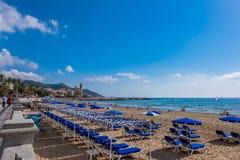 Ορόσημα Sitges στη Βαρκελώνη, Ισπανία Στοκ φωτογραφίες με δικαίωμα ελεύθερης χρήσης