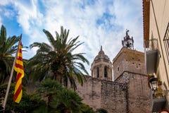 Ορόσημα Sitges στη Βαρκελώνη, Ισπανία Στοκ Εικόνα