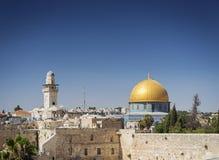 Ορόσημο μουσουλμανικών τεμενών aqsa Al στην παλαιά πόλη του jesuralem Ισραήλ Στοκ Εικόνες