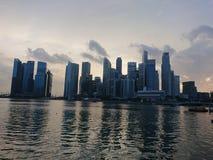 Ορόσημο οικονομικών κέντρων της Σιγκαπούρης Στοκ Εικόνες