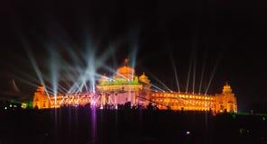 Ορόσημο της Βαγκαλόρη, Vidhana Soudha Στοκ Φωτογραφίες