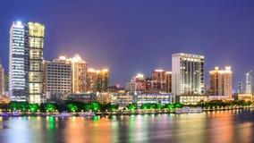 Ορόσημο Guangzhou τη νύχτα Στοκ Εικόνα