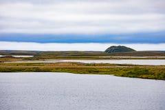 Ορόσημο Pingo tundra σε Tuktoyaktuk NWT Καναδάς στοκ εικόνες