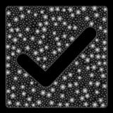 2$ος έλεγχος πλέγματος φλογών με τα σημεία λάμψης διανυσματική απεικόνιση