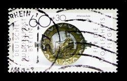 1$ος αιώνας Αθηνά-πιάτων Π.Χ., ευημερία: Χρυσός και silversmithing serie, circa 1987 Στοκ Φωτογραφία