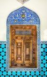 14ος αιώνας, ιστορική ισλαμική διακόσμηση, παράθυρο Στοκ Εικόνα