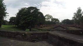 16ος αιώνας οι εντός των τειχών περιτοιχισμένες στέγες τούβλου πόλεων απόθεμα βίντεο