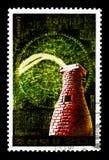 7ος αιώνας παρατηρητήριων Chomsongdae, αστρονομία serie, circa 1989 Στοκ Εικόνες