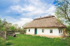 19ος αιώνας σπιτιών της Ουκρανίας Στοκ εικόνα με δικαίωμα ελεύθερης χρήσης