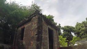 16ος αιώνας το εντός των τειχών περιτοιχισμένο σπίτι φρουράς τούβλου πόλεων απόθεμα βίντεο