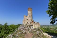 13ος αιώνας Checiny Castle, καταστροφές του μεσαιωνικού φρουρίου, Checiny, Πολωνία Στοκ Εικόνες