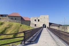 14ος αιώνας Dobczyce Castle στη λίμνη Dobczyce, κοντά στην Κρακοβία, Πολωνία Στοκ Εικόνες