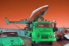 21$ος αιώνας junkyard του μέλλοντος Στοκ φωτογραφίες με δικαίωμα ελεύθερης χρήσης