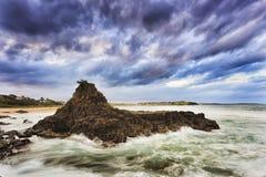 1$ος βράχος Kiama θάλασσας Στοκ Εικόνα