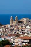 13ος καθεδρικός ναός Cefalu αιώνα σε Cefalu, Σικελία, Ιταλία Στοκ Φωτογραφίες