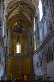 13ος καθεδρικός ναός Cefalu αιώνα σε Cefalu, Σικελία Στοκ Φωτογραφίες