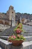 13ος καθεδρικός ναός Cefalu αιώνα σε Cefalu, Σικελία Στοκ Εικόνα