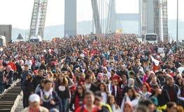 37ος μαραθώνιος Vodafone Ιστανμπούλ Στοκ εικόνα με δικαίωμα ελεύθερης χρήσης