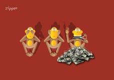 5-3$ος πίθηκος Στοκ Εικόνες