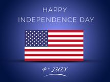 4ος της ευτυχούς ημέρας της ανεξαρτησίας Ιουλίου Πολιτεία του Αμερική-χαιρετισμού της κάρτας στοκ εικόνα με δικαίωμα ελεύθερης χρήσης