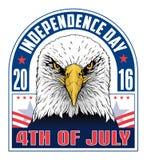 4ος της ημέρας Ιούλιος-ανεξαρτησίας ελεύθερη απεικόνιση δικαιώματος