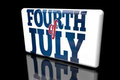 4ος της 3ης Ιουλίου Δ ογκομετρικού ελεύθερη απεικόνιση δικαιώματος