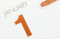 1$ος του Ιανουαρίου Στοκ Φωτογραφίες