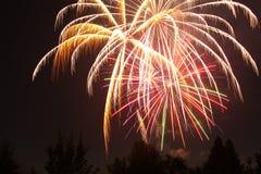 4ος των πυροτεχνημάτων Ιουλίου στο σημείο αετών, Όρεγκον στοκ φωτογραφία