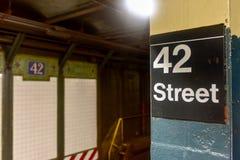 42$ος υπόγειος οδών - NYC Στοκ Φωτογραφίες