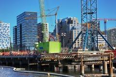 ΟΣΛΟ, ΝΟΡΒΗΓΙΑ †«στις 17 Αυγούστου 2016: Ένα εργοτάξιο οικοδομής Bjorvik Στοκ Φωτογραφία